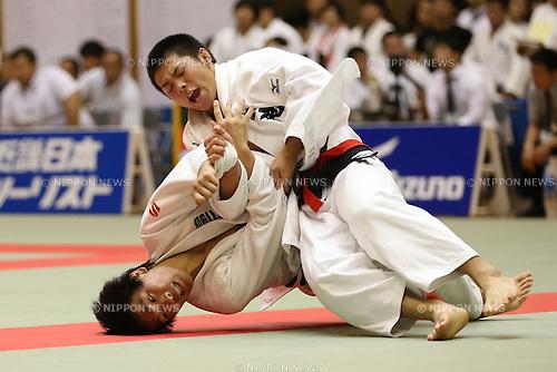 Hifumi Abe,<br /> September 13, 2014 - Judo : <br /> All Japan Junior Judo Championships <br /> Men's -66kg<br /> at Saitama Kenritsu Budokan, Saitama, Japan. <br /> (Photo by Shingo Ito/AFLO SPORT) [1195]