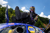 Jun 17, 2017; Bristol, TN, USA; NHRA funny car driver Jack Beckman during qualifying for the Thunder Valley Nationals at Bristol Dragway. Mandatory Credit: Mark J. Rebilas-USA TODAY Sports