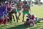 Ra Garmonsway dives over to score the match winning try for Waiuku late in the Counties Manukau Premier Club Rugby game between Waiuku & Ardmore Marist played at Waiuku on Saturday 20th June, 2009. Waiuku won the game 28 - 25.