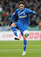 FUSSBALL   1. BUNDESLIGA   SAISON 2011/2012   21. SPIELTAG Werder Bremen - 1899 Hoffenheim                        11.02.2012 Sebastian Rudy (TSG 1899 Hoffenheim)