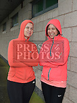 Alison Harvey and Una Kelly who took part in the Goal Mile at St Fechins GAA club on St Stephen's morning. Photo:Colin Bell/pressphotos.ie