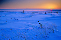 Sunset over snowy fields, winter on Northern Great Plains in Mercer County, North Dakota, AGPix_0063.