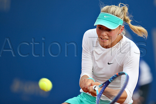 21.05.2015. Nuremberg, Germany. WTA Nuremberg Open tournament.  Carina Witthoeft of Germany in action during the quarter finals match against Arruabarrena of Spain in Nuremberg, Germany, 21 May 2015.