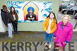 Students, Lauren Rohan and Molly O'Callaghan from the Kerry College of Education standing with members of the Tidy Tralee Together committee at the new mural in the Abbey carpark on Tuesday. <br /> Ayo Ogundele, Lauren Rohan, Molly O'Callaghan and Mary O'Brien
