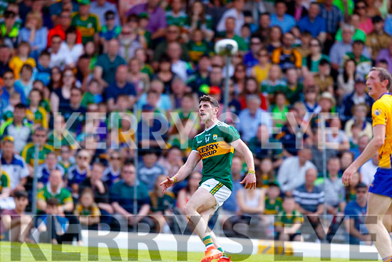 Paul Geaney Kerry in action against  Clare during the Munster GAA Football Senior Championship semi-final match between Kerry and Clare at Fitzgerald Stadium in Killarney on Sunday.