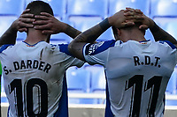 5th July 2020; RCDE Stadium, Barcelona, Catalonia, Spain; La Liga Football, Real Club Deportiu Espanyol de Barcelona versus Leganes;  Darder and Raúl de Tomás frustrated as they struggle to find a way forward