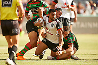 Ligi Sao of the NZ Warriors, Rabbitohs v Vodafone Warriors, NRL rugby league premiership. Optus Stadium, Perth, Western Australia. 10 March 2018. Copyright Image: Daniel Carson / www.photosport.nz