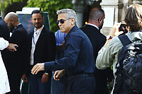 VENICE, ITALY - September 2nd: George Clooney arrives at Darsena Excelsior during 74th Venice Film Festival at Excelsior Hotel on September 2nd, 2017 in Venice, Italy. (Mark Cape/insidefoto)