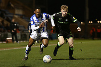 Ryan Jackson of Colchester United and Nathan McGinley of Forest Green Rovers during Colchester United vs Forest Green Rovers, Sky Bet EFL League 2 Football at the JobServe Community Stadium on 12th March 2019