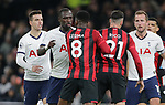 Tottenham's Moussa Sissoko (2nd L) and Bournemouth's Jefferson Lerma clash during the Premier League match at the Tottenham Hotspur Stadium, London. Picture date: 30th November 2019. Picture credit should read: Paul Terry/Sportimage