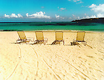 Beach Chairs on the Beaches of Anguilla, British West Indies