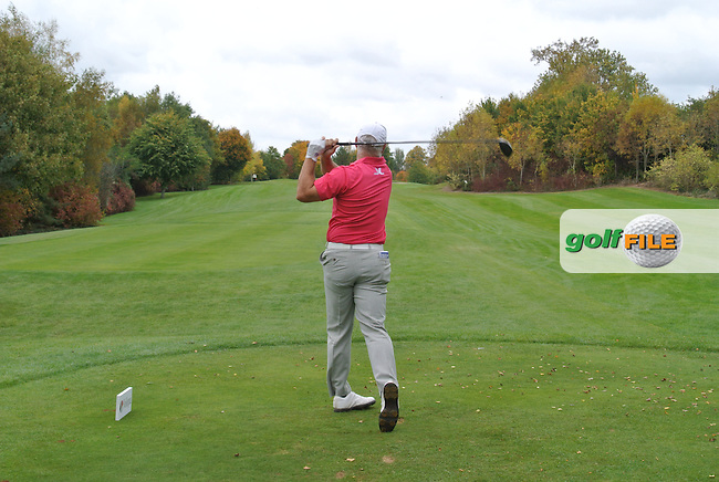 Philip Archer (ENG) on the 15th tee during Round 3 of the Volopa Irish Challenge in Tullow, Co. Carlow on Saturday 10th October 2015.<br /> Picture:  Thos Caffrey / www.golffile.ie