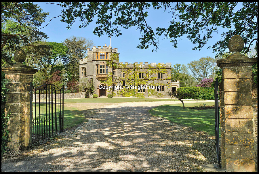 BNPS.co.uk (01202 558833)Pic: KnightFrank/BNPS<br /> <br /> Hilfield Manor, Sherborne, Dorset.<br /> <br /> A country manor house which once inspired Victorian author Thomas Hardy has gone on the market for £2.35m.<br /> <br /> The writer was friends with the former owners of Hilfield Manor and visited the property over 100 years ago.<br /> <br /> Indeed, there is a photograph of him with his wife Florence stood in the front porch.<br /> <br /> The manor is in the Dorset village of Hermitage, which Hardy called Little Hintock in his novel The Woodlanders.<br /> <br /> The property was built in the late 19th century by the Dampier-Bide family who were descendants of the famous British explorer and privateer William Dampier.