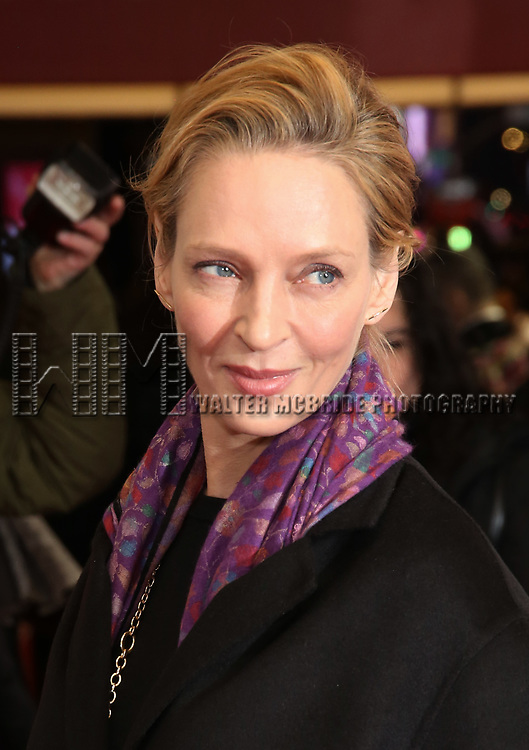 "Uma Thurman attends the Broadway Opening Night Performance of ""To Kill A Mockingbird"" on December 13, 2018 at The Shubert Theatre in New York City."