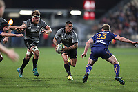 Aaron Smith in action during the Game of Three Halves match between the NZ All Blacks and Otago at AMI Stadium in Christchurch, New Zealand on Friday, 10 August 2018. Photo: Martin Hunter / lintottphoto.co.nzz