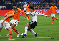 Leroy Sane (Deutschland Germany) setzt sich durch - 19.11.2018: Deutschland vs. Niederlande, 6. Spieltag UEFA Nations League Gruppe A, DISCLAIMER: DFB regulations prohibit any use of photographs as image sequences and/or quasi-video.