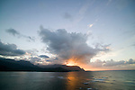 "The view of ""Bali Hai"" from the terrace bar at the Princeville Resort is a popluar place to watch the sunset on the North Shore of Kauai"