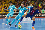 League LNFS 2017/2018.<br /> PlayOff Final-Game 4.<br /> FC Barcelona Lassa vs Movistar Inter FS: 3-3.<br /> FCB por penaltys.<br /> Daniel, Ricardinho &amp; Leo Santana.