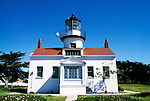 California: Monterey Region.  The Point Pinos Lighthouse.  Photo #: camon3103..Photo copyright Lee Foster, 510/549-2202, lee@fostertravel.com, www.fostertravel.com
