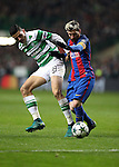 Lionel Messi of Barcelona  and Tom Rogic of Celtic during the Champions League match at Celtic Park, Glasgow. Picture Date: 23rd November 2016. Pic taken by Lynne Cameron/Sportimage