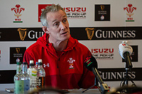 Wales Backs Coach Rob Howley during the Wales Press Conference at The Vale Resort in Cardiff, Wales, UK.Thursday 28 February 2019