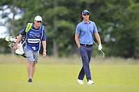 Nicolas Colsaerts (BEL) on the 1st during Round 2 of the Aberdeen Standard Investments Scottish Open 2019 at The Renaissance Club, North Berwick, Scotland on Friday 12th July 2019.<br /> Picture:  Thos Caffrey / Golffile<br /> <br /> All photos usage must carry mandatory copyright credit (© Golffile | Thos Caffrey)