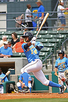 Calvin Culver #14 of the Myrtle Beach Pelicans at bat during a game against the Lynchburg Hillcats on May 26, 2010 at BB&T Coastal Field in Myrtle Beach, SC.