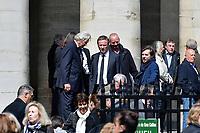NICOLAS DUPONT-AIGNAN - OBSEQUES DE COLLETTE AIGNAN, MERE DE NICOLAS DUPONT-AIGNAN, EN L' EGLISE SAINT PIERRE DU GROS CAILLOU, PARIS, 04/05/2017