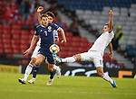 06.09.2019 Scotland v Russia, European Championship 2020 qualifying round, Hampden Park:<br /> James Forrest with Roman Zobnin and Yuri Zhirkov