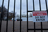 The White House stands in Washington D.C., U.S., on Monday, December 2, 2019.  The White House fence is currently under construction, and will be approximately thirteen feet tall once completed. <br /> <br /> Credit: Stefani Reynolds / CNP