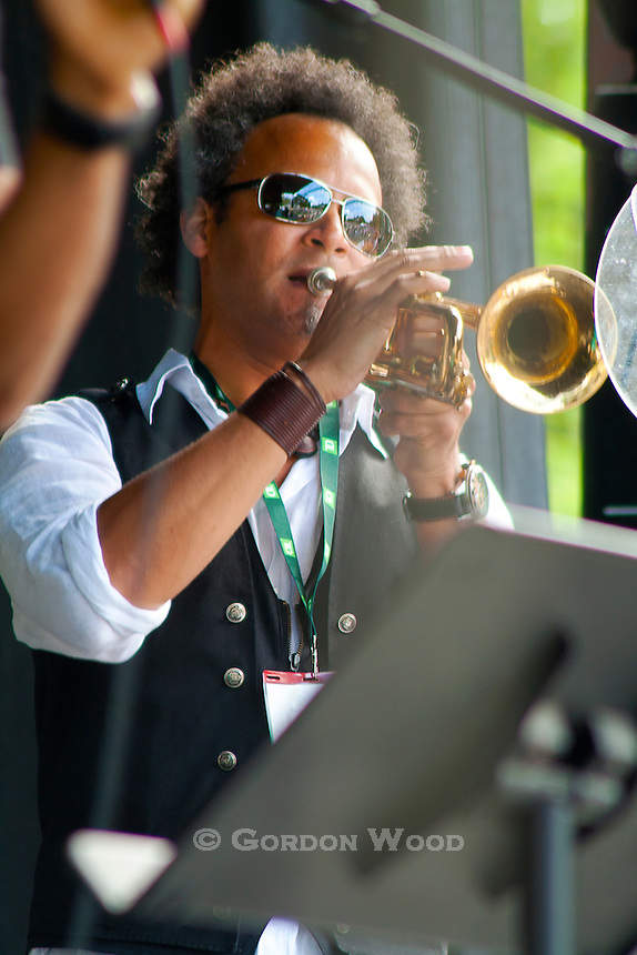 Trumpet Player from Cabocubajazz at Sunfest