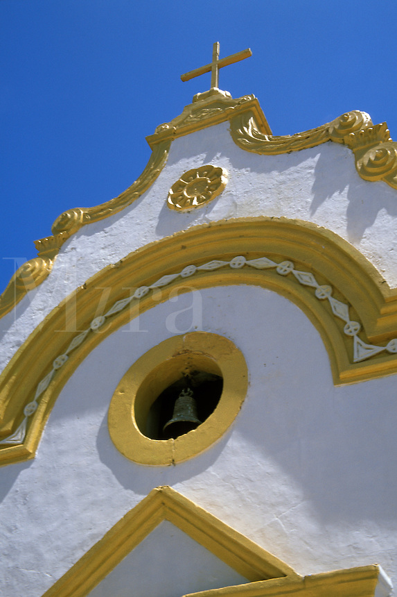 Detail of church in Tatuamunha, a village on the Atlantic coast, Alagoas, Brazi