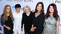 HOLLYWOOD, LOS ANGELES, CA, USA - JUNE 21: Belinda Carlisle, Charlotte Caffey, Gina Schock, Jane Wiedlin, Kathy Valentine, The Go-Go's at the 2014 Hollywood Bowl Opening Night And Hall Of Fame Inductions held at the Hollywood Bowl on June 21, 2014 in Hollywood, Los Angeles, California, United States. (Photo by Xavier Collin/Celebrity Monitor)