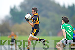 Shane Carroll Austin Stacks in action against Saint Kierans in the Quarter Finals of the County Championship at Austin Stack Park on Sunday.