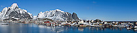 Reine panoramic view, Lofoten islands, Norway