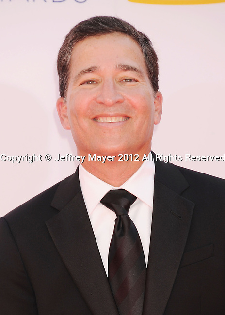 LOS ANGELES, CA - SEPTEMBER 23: Bruce Rosenblum arrives at the 64th Primetime Emmy Awards at Nokia Theatre L.A. Live on September 23, 2012 in Los Angeles, California.