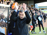 Cambridge United manager Colin Calderwood during the pre-match warm-up<br /> <br /> Photographer Andrew Vaughan/CameraSport<br /> <br /> The EFL Sky Bet League Two - Cambridge United v Lincoln City - Saturday 29th December 2018  - Abbey Stadium - Cambridge<br /> <br /> World Copyright © 2018 CameraSport. All rights reserved. 43 Linden Ave. Countesthorpe. Leicester. England. LE8 5PG - Tel: +44 (0) 116 277 4147 - admin@camerasport.com - www.camerasport.com