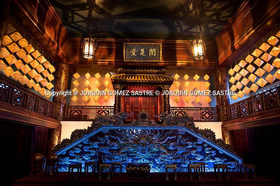 View of the interior of the theater that is preserved in the citadel of Hue (Vietnam)<br /> HUE-VIETNAM