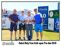 Paul Dunne (IRL) team on the 10th tee during Wednesday's Pro-Am of the 2018 Dubai Duty Free Irish Open, held at Ballyliffin Golf Club, Ireland. 4th July 2018.<br /> Picture: Eoin Clarke | Golffile<br /> <br /> <br /> All photos usage must carry mandatory copyright credit (&copy; Golffile | Eoin Clarke)