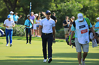 Henrik Stenson (SWE) on the 18th during the 3rd round of the DP World Tour Championship, Jumeirah Golf Estates, Dubai, United Arab Emirates. 23/11/2019<br /> Picture: Golffile | Phil Inglis<br /> <br /> <br /> All photo usage must carry mandatory copyright credit (© Golffile | Phil Inglis)