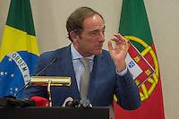 LISBOA, PORTUGAL, 20 DE ABRIL 2015 - FORÚM EMPRESARIAL BRASIL-PORTUGAL - Paulo Portas, Vice-Primeiro Ministro Português durante o Forúm Empresarial Brasil-Portugal, em Lisboa, Portugal. (Foto: Bruno de Carvalho - Brazil Photo Press)