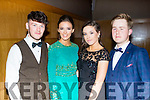 Dressed up.<br /> ---------------<br /> Looking good for their Debs last Wednesday at the Ballyroe Heights hotel, Tralee were students from Killorglin Intermediate school, L-R Patrick daly, Danika O'Grady, Chloe Coffey and Mike O'Sullivan.