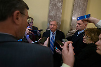 United States Senator Lindsey Graham (Republican of South Carolina) speaks to members of the media following votes on the Senate Floor on Capitol Hill in Washington D.C., U.S., on Monday, January 6, 2019.<br /> <br /> Credit: Stefani Reynolds / CNP/AdMedia
