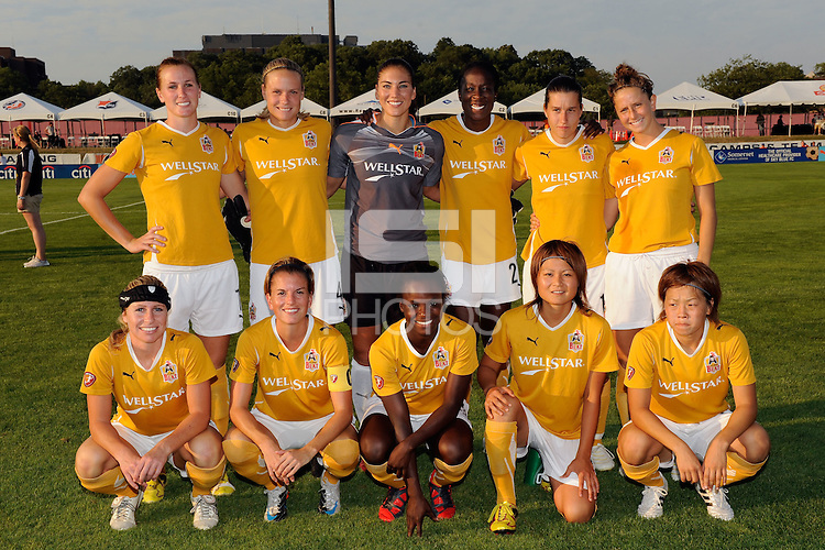 Atlanta Beat starting eleven. The Atlanta Beat defeated Sky Blue FC 1-0 during a Women's Professional Soccer (WPS) match at Yurcak Field in Piscataway, NJ, on July 18, 2010.