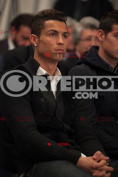 Real Madrid´s Cristiano Ronaldo attends Jorge Mendes´s book presentation in Madrid, Spain. January 22, 2015. (ALTERPHOTOS/Victor Blanco) /NortePhoto<br />