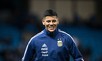 Marcos Rojo (Manchester United) of Argentina pre match during the International Friendly match between Argentina and Italy at the Etihad Stadium, Manchester, England on 23 March 2018. Photo by Andy Rowland.