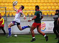 Dylan Taylor keeps the ball in during the Heartland Championship rugby match between Horowhenua Kapiti and Wairarapa Bush at Westpac Stadium in Wellington, New Zealand on Sunday, 1 October 2017. Photo: Dave Lintott / lintottphoto.co.nz