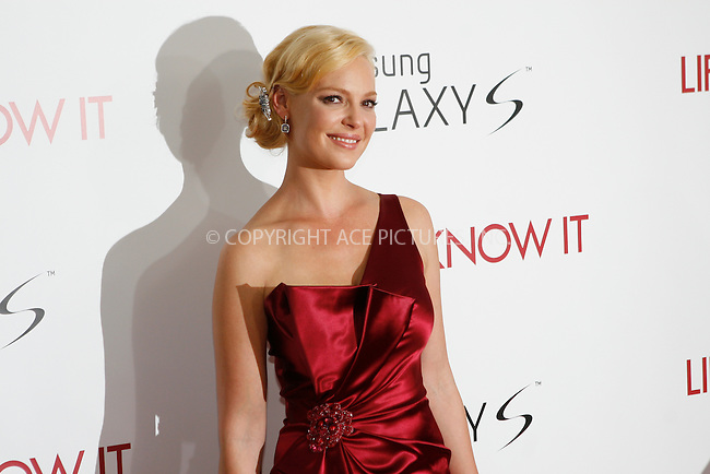 WWW.ACEPIXS.COM . . . . .  ....September 30, 2010....Actress Katherine Heigl attends the 'Life As We Know It' premiere held at the Ziegfeld Theatre on September 30, 2010 in New York City.......Please byline: NANCY RIVERA - ACEPIXS.COM.... *** ***..Ace Pictures, Inc:  ..Philip Vaughan  (646) 769 0430..e-mail: info@acepixs.com..web: http://www.acepixs.com