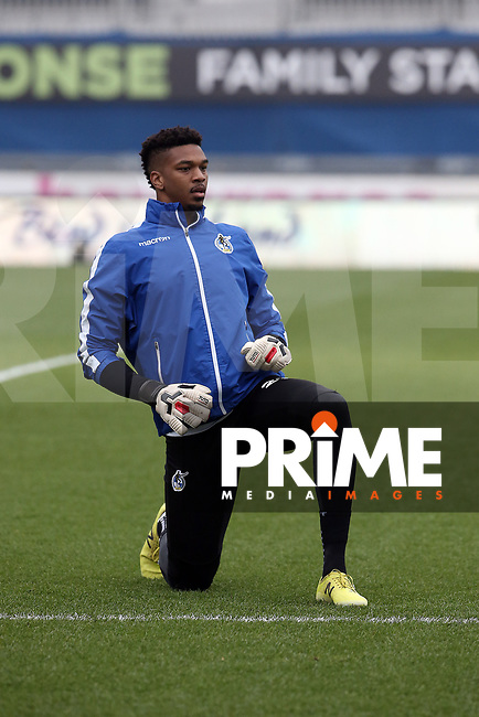 Jamal Blackman of Bristol Rovers warms up ahead of  the Sky Bet League 1 match between Bristol Rovers and Fleetwood Town at the Memorial Stadium, Bristol, England on 25 January 2020. Photo by Dave Peters / PRiME Media Images.