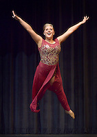 NWA Democrat-Gazette/BEN GOFF @NWABENGOFF<br /> Emma Howell performs a dance routine on Thursday Sept. 24, 2015 during Talent Night of the Miss Bentonville High School Scholarship Pageant in the school's Arend Arts Center. Evening gown, finals and awards for the pageant will be held at the school on Saturday at 7:00p.m.
